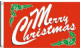 Merry Christmas Red Large Christmas Flag - 5' x 3'.